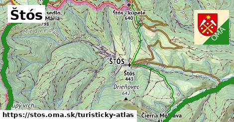 ikona Turistická mapa turisticky-atlas  stos