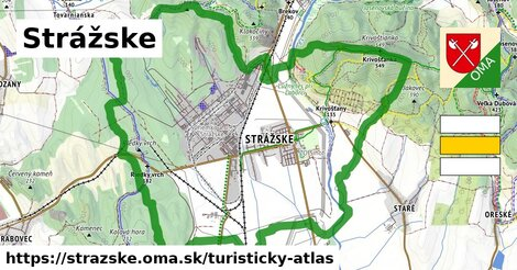 ikona Strážske: 10,5km trás turisticky-atlas  strazske