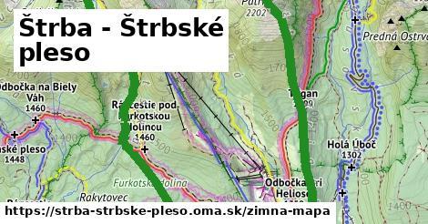 ikona Štrba - Štrbské pleso: 11,1km trás zimna-mapa  strba-strbske-pleso