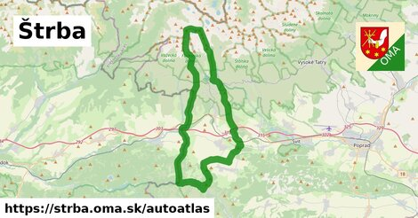 ikona Mapa autoatlas  strba