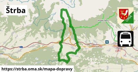 ikona Štrba: 3,9km trás mapa-dopravy  strba