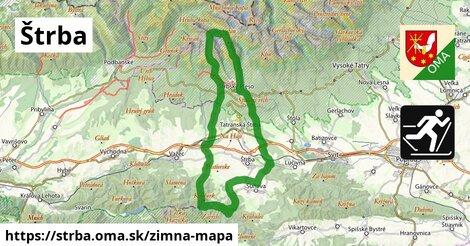 ikona Štrba: 11,1km trás zimna-mapa  strba