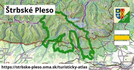 ikona Štrbské Pleso: 105km trás turisticky-atlas  strbske-pleso