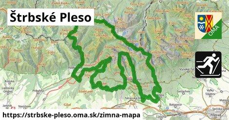 ikona Štrbské Pleso: 22km trás zimna-mapa  strbske-pleso
