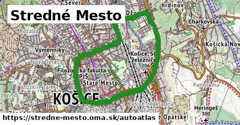 ikona Mapa autoatlas  stredne-mesto