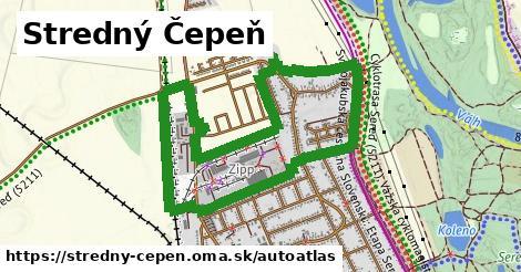 ikona Mapa autoatlas  stredny-cepen