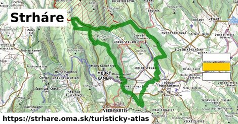 ikona Turistická mapa turisticky-atlas  strhare
