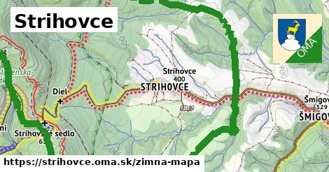 ikona Strihovce: 0,91km trás zimna-mapa v strihovce