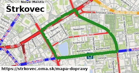 ikona Mapa dopravy mapa-dopravy v strkovec