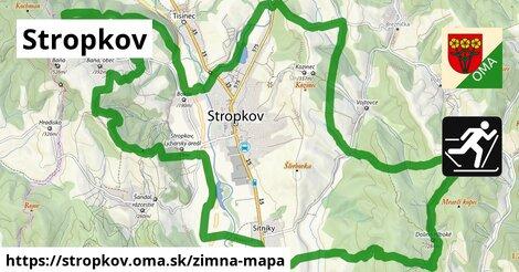 ikona Stropkov: 1,36km trás zimna-mapa  stropkov