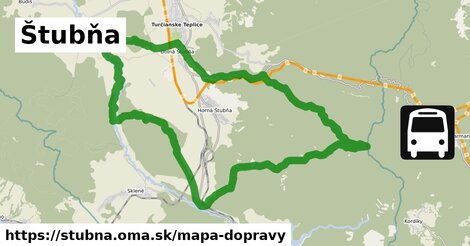 ikona Štubňa: 5,2km trás mapa-dopravy  stubna