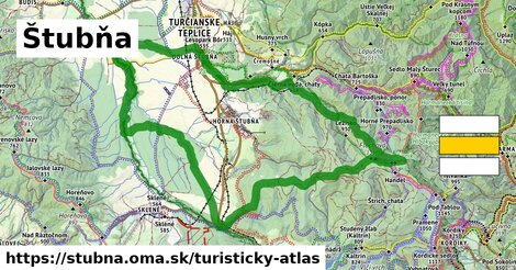 ikona Turistická mapa turisticky-atlas  stubna