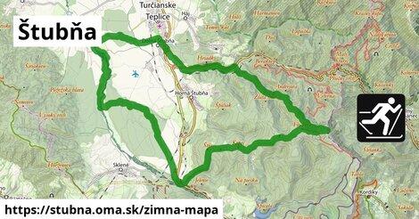ikona Štubňa: 550m trás zimna-mapa  stubna