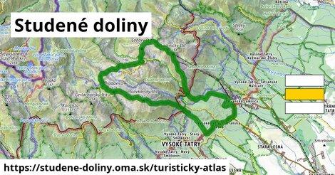 ikona Studené doliny: 30km trás turisticky-atlas  studene-doliny