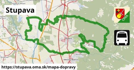 ikona Stupava: 115km trás mapa-dopravy  stupava