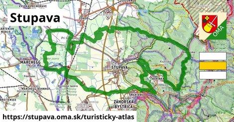 ikona Stupava: 40km trás turisticky-atlas  stupava