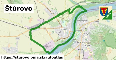 ikona Mapa autoatlas  sturovo