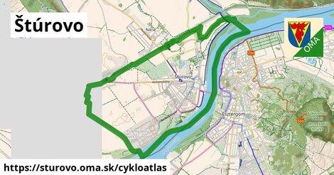 ikona Štúrovo: 17km trás cykloatlas  sturovo