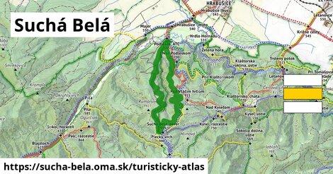 ikona Turistická mapa turisticky-atlas  sucha-bela