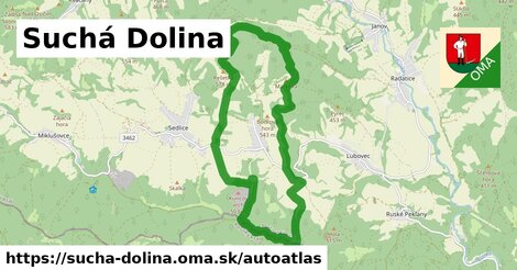 ikona Mapa autoatlas  sucha-dolina