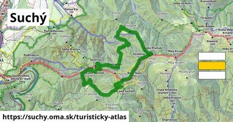 ikona Suchý: 10,6km trás turisticky-atlas  suchy