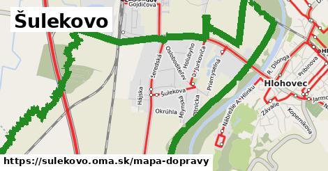 ikona Šulekovo: 22km trás mapa-dopravy  sulekovo