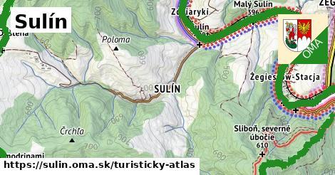 ikona Turistická mapa turisticky-atlas  sulin