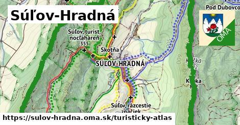 ikona Súľov-Hradná: 49km trás turisticky-atlas  sulov-hradna