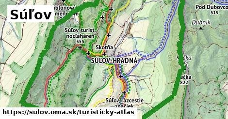 ikona Súľov: 0m trás turisticky-atlas v sulov