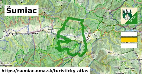 ikona Šumiac: 55km trás turisticky-atlas  sumiac