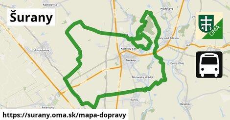 ikona Šurany: 11,0km trás mapa-dopravy  surany
