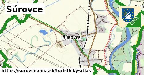 ikona Šúrovce: 3,7km trás turisticky-atlas  surovce