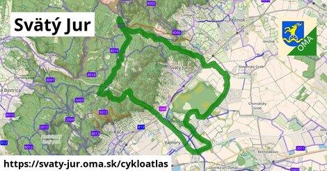 ikona Svätý Jur: 37km trás cykloatlas  svaty-jur