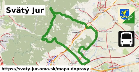 ikona Svätý Jur: 197km trás mapa-dopravy  svaty-jur