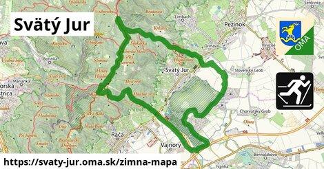 ikona Svätý Jur: 20km trás zimna-mapa  svaty-jur