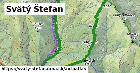 ikona Mapa autoatlas  svaty-stefan