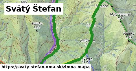 ikona Svätý Štefan: 3,2km trás zimna-mapa  svaty-stefan