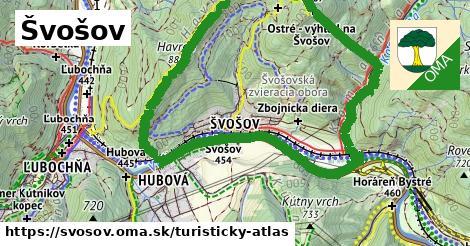 ikona Turistická mapa turisticky-atlas v svosov