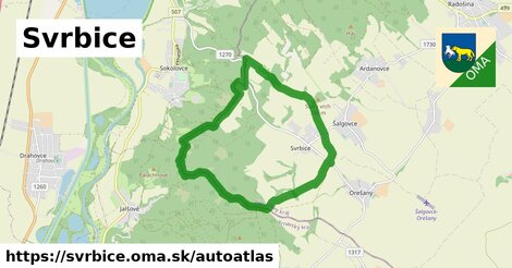 ikona Mapa autoatlas  svrbice
