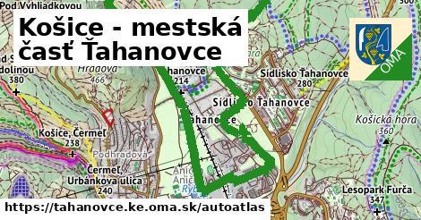 ikona Mapa autoatlas  tahanovce.ke