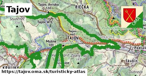 ikona Turistická mapa turisticky-atlas  tajov