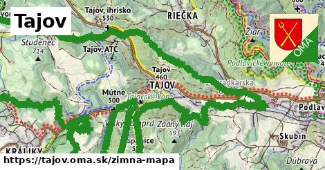 ikona Tajov: 8,8km trás zimna-mapa  tajov