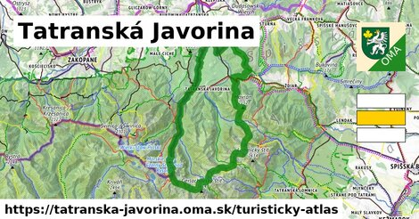 ikona Turistická mapa turisticky-atlas  tatranska-javorina