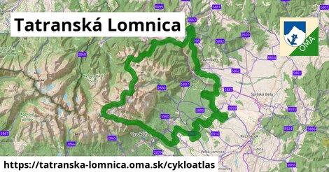 ikona Tatranská Lomnica: 72km trás cykloatlas  tatranska-lomnica