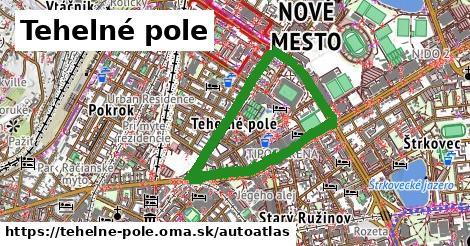 ikona Mapa autoatlas  tehelne-pole