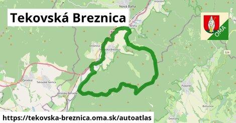 ikona Mapa autoatlas  tekovska-breznica