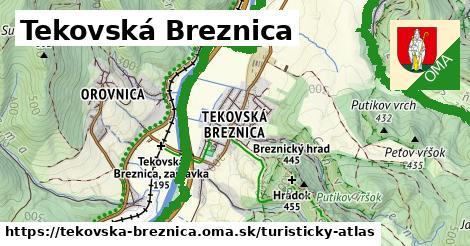 ikona Tekovská Breznica: 13,0km trás turisticky-atlas  tekovska-breznica