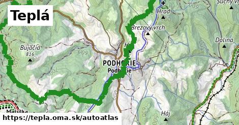 ikona Mapa autoatlas  tepla