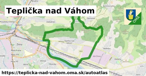 ikona Mapa autoatlas  teplicka-nad-vahom