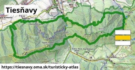 ikona Turistická mapa turisticky-atlas  tiesnavy